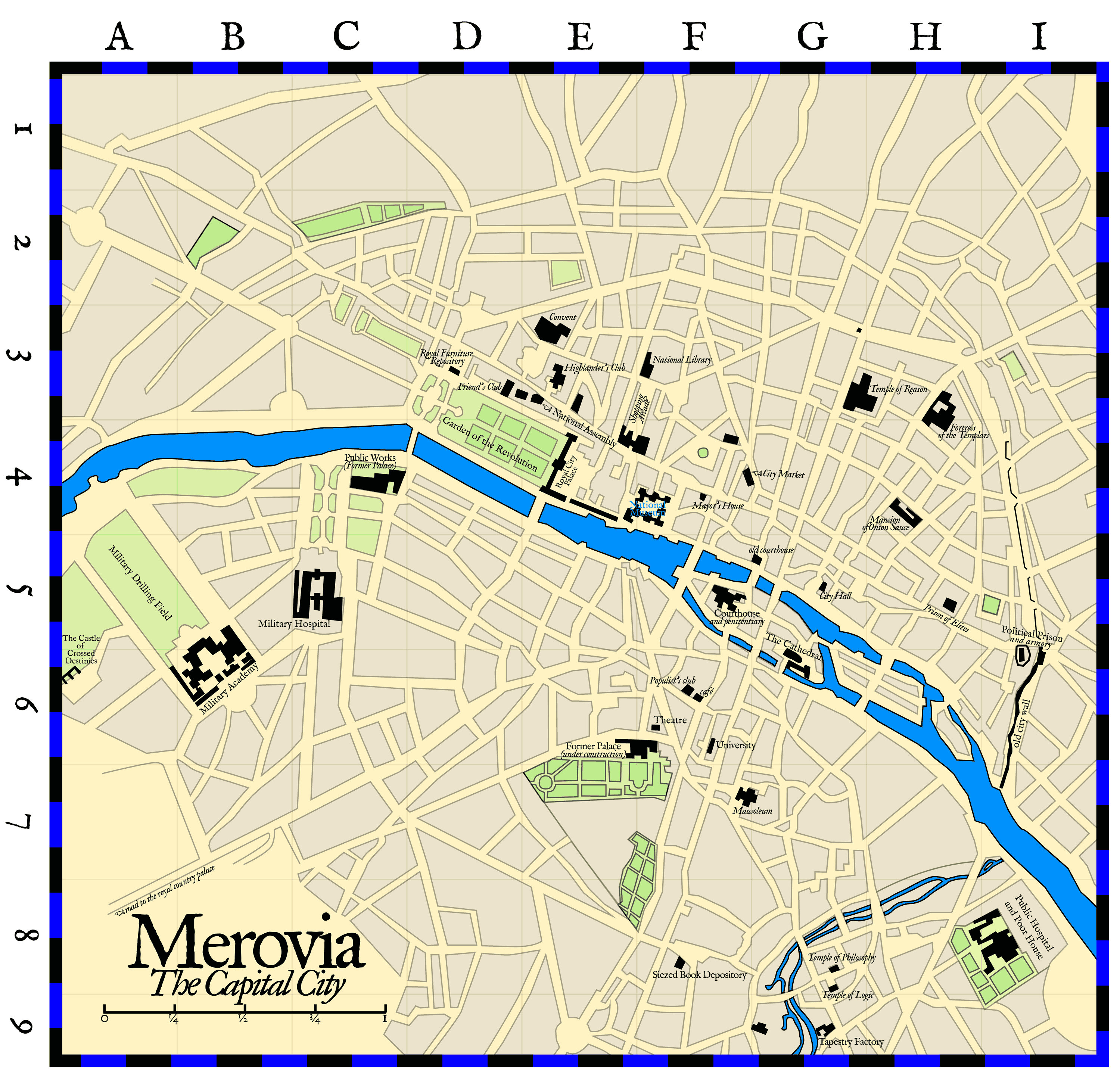 Map of the Merovin Capital City